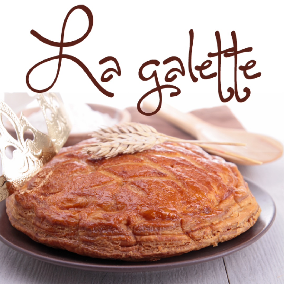 Galette cake on decorative plate